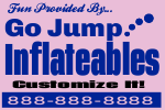Inflateables Yard Sign Template