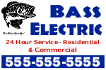 Bass Electric Sign Template