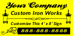Custom Iron Works Sign Template