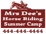 Horse Camp Yard Sign Template
