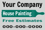 Your Company House Painting Sign Template
