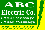ABC Electric Sign Template