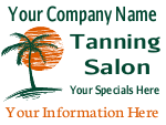 Tanning Salon Cheap Sign Template