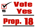 Political Yard Sign Template Vote Yes Prop 18