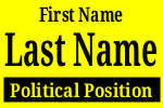 Political Sign Template Black Yellow