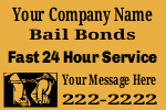 Bail Bonds Yard Sign Template