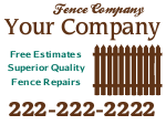 Fence Company Sign Template