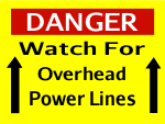 Danger Overhead Power Lines