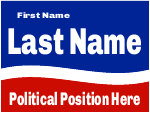 Campaign Sign Template Red White Blue