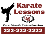 Karate Lessons Yard Sign Template