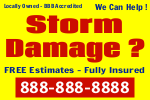 Storm Damage Sign Template