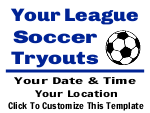 Soccer Tryouts Yard Sign Template