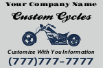 Custom Cycles Yard Sign Template